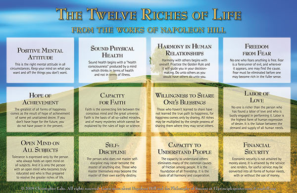 12 Riches of Life Poster Landscape Orientation