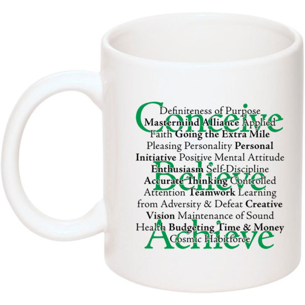 17 principles coffee mug left side