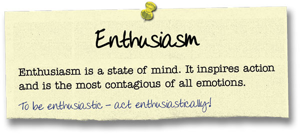 Success Principle 8 Enthusiasm