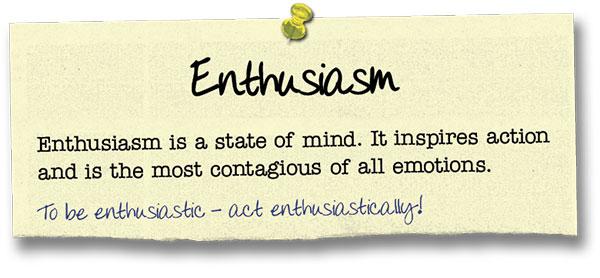 Success Principle 8 Enthusiasm