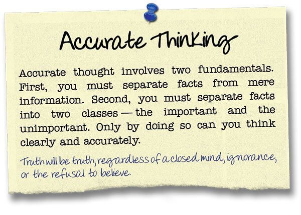 Success Principle 10 Accurate Thinking