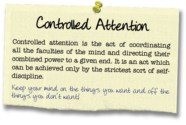 Success Principle 11 Controlled Attention