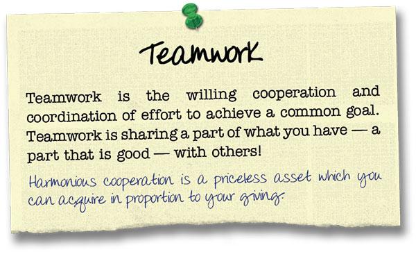 Success Principle 12 Teamwork