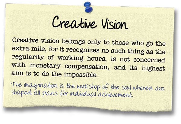 Success Principle 14 Creative Vision