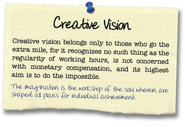 Success Principle 14 Creative Vision