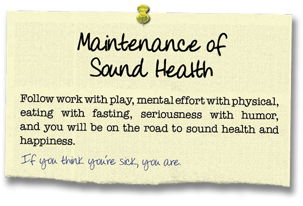 Success Principle 15 Maintenance of Sound Health
