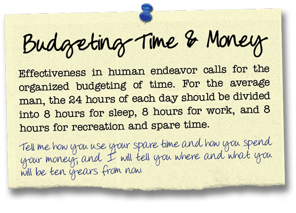 Success Principle 16 Budgeting Time and Money