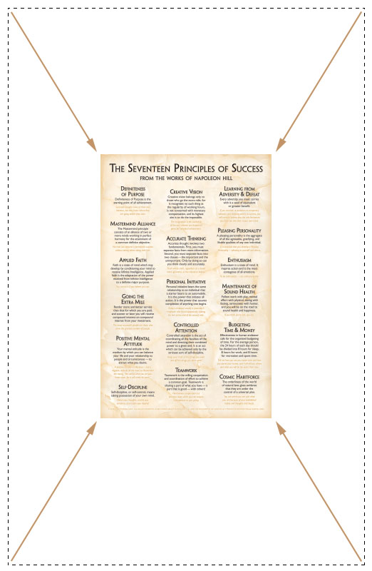 17 Principles of Success Poster Formal Design Compact Size