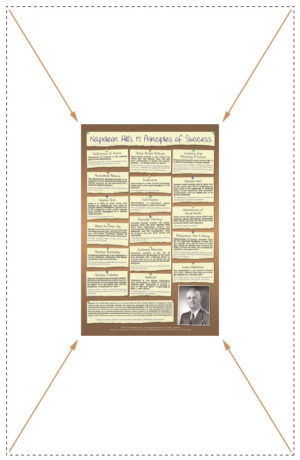17 Principles of Success Poster Original Design Compact Size in Portrait Layout